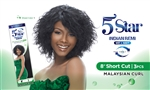 "5 STAR INDIAN REMI WET & WAVY- 8"" Short Cut - Malaysian Curl"