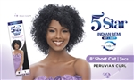 "5 STAR INDIAN REMI WET & WAVY- 8"" Short Cut - Peruvian Curl"