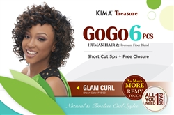 GOGO 6pcs COLLECTION - GLAM CURL+ FREE CLOSURE