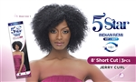 "5 STAR INDIAN REMI WET & WAVY- 8"" Short Cut - Jerry Curl"