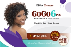 GOGO 6pcs COLLECTION - OPRAH CURL + FREE CLOSURE