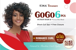 GOGO 6pcs COLLECTION - ROMANCE CURL + FREE CLOSURE