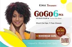 GOGO 6pcs COLLECTION - BOHEMIAN CURL + FREE CLOSURE